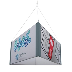 8ft x 42in Triangle EuroFit Tension Fabric Hanging Banner Display Kit. EuroFit is the model of international design. EuroFit Hanging sign, tradeshow graphic is available in 3 different designs: triangle, square, and round.