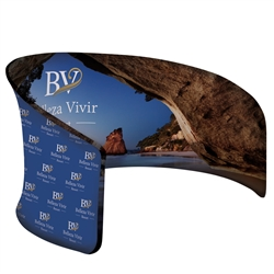 10ft x 6ft EuroFit Cove Jr Tension Fabric Floor Display Kit will command attention at any trade show or event. The attractive shape of this Exhibit is sure to catch their eye at your trade show or event. Create conference area in your booth space
