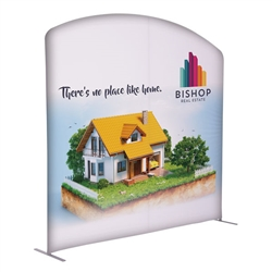 8ft x 7ft EuroFit Arc Kit. These double-sided displays weigh 75% less than standard pop-up displays.