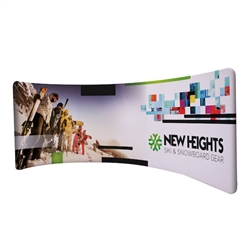 10ft x 4.5ft EuroFit Drift Double-Sided Kit. These double-sided displays weigh 75% less than standard pop-up displays.