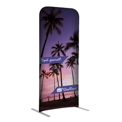 2ft x 54in EuroFit Straight Wall Floor Tension Fabric Display Kit. The uniqueness of a tension fabric display is evident when you see one on the trade show floor.