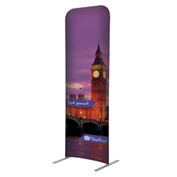 2ft x 72in EuroFit Straight Wall Floor Tension Fabric Display Kit. The uniqueness of a tension fabric display is evident when you see one on the trade show floor.