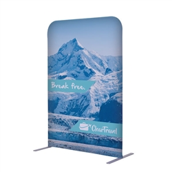 3ft x 54in EuroFit Straight Wall Floor Tension Fabric Display Kit. The uniqueness of a tension fabric display is evident when you see one on the trade show floor.
