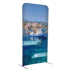 3ft x 72in EuroFit Straight Wall Floor Tension Fabric Display Kit. The uniqueness of a tension fabric display is evident when you see one on the trade show floor.