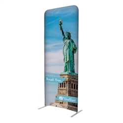 3ft x 90in EuroFit Straight Wall Floor Tension Fabric Display Kit. The uniqueness of a tension fabric display is evident when you see one on the trade show floor.