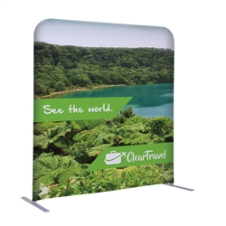 4ft x 54in EuroFit Straight Wall Floor Tension Fabric Display Kit. The uniqueness of a tension fabric display is evident when you see one on the trade show floor.