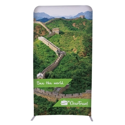 4ft x 90in EuroFit Straight Wall Floor Tension Fabric Display Kit. The uniqueness of a tension fabric display is evident when you see one on the trade show floor.