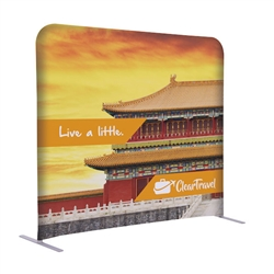 5ft x 54in EuroFit Straight Wall Floor Tension Fabric Display Kit. The uniqueness of a tension fabric display is evident when you see one on the trade show floor.