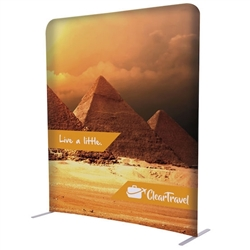 5ft x 72in EuroFit Straight Wall Floor Tension Fabric Display Kit. The uniqueness of a tension fabric display is evident when you see one on the trade show floor.