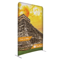 5ft x 90in EuroFit Straight Wall Floor Tension Fabric Display Kit. The uniqueness of a tension fabric display is evident when you see one on the trade show floor.