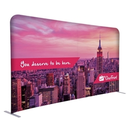 8ft x 54in EuroFit Straight Wall Floor Tension Fabric Display Kit. The uniqueness of a tension fabric display is evident when you see one on the trade show floor.