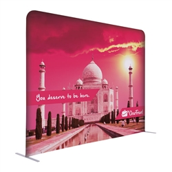 8ft x 72in EuroFit Straight Wall Floor Tension Fabric Display Kit. The uniqueness of a tension fabric display is evident when you see one on the trade show floor.