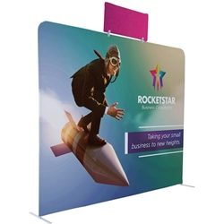 3ft x 1.35ft EuroFit Tagalong Tension Fabric Double-Sided Display Kit. Expand select EuroFit displays by attaching the EuroFit Tagalong to the top or side.