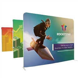 5ft x 1.35ft EuroFit Tagalong Tension Fabric Double-Sided Display Kit. Expand select EuroFit displays by attaching the EuroFit Tagalong to the top or side.