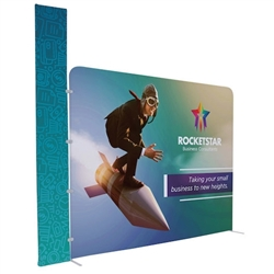 10ft EuroFit Tagalong Tension Fabric Display Kit. Expand select EuroFit displays by attaching the EuroFit Tagalong to the top or side.