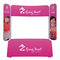 6ft x 6ft  EuroFit Monarch Display (Graphic & Hardware). 