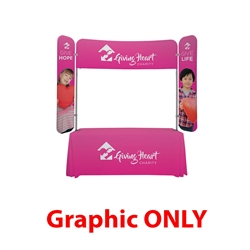 6ft x 6ft  EuroFit Monarch Top Graphic Cover(Graphic Only). 