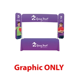8ft x 6ft  EuroFit Monarch Top Graphic Cover (Graphic Only). 