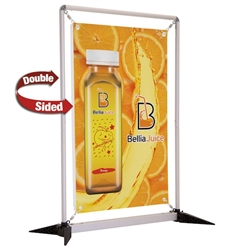 3ft x 4ft  FrameWorx Tabletop Display Double-Sided (Graphic & Hardware). 