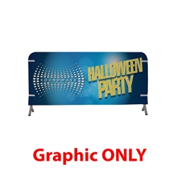 7ft x 3ft  Barricade Cover Vinyl (Graphic Only). 