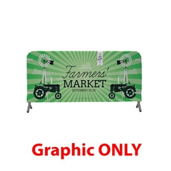 8ft x 3ft  Barricade Cover Fabric (Graphic Only). 