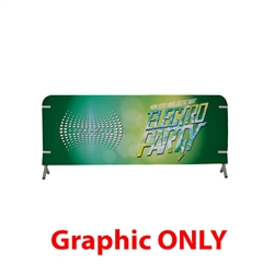 8ft x 3ft  Barricade Cover Vinyl (Graphic Only). 