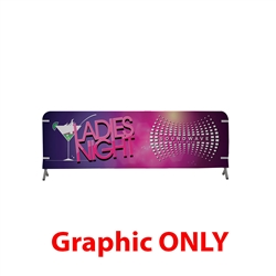 10ft x 3ft  Barricade Cover Vinyl (Graphic Only). 