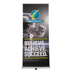 34in x 80in Ideal Retractable Single-Sided Banner (Graphic & Hardware)