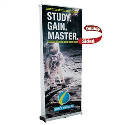 34in x 80in Ideal Retractable Double-Sided Banner (Graphic & Hardware)