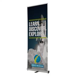 32in x 80in Ideal Retractable Single-Sided Banner (Graphic & Hardware)