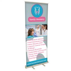 32in x 80in Value Polypropylene Media Retractable Banner (Graphic & Hardware)
