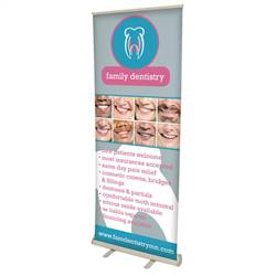 32in x 80in Value No-Curl Hybrid Media Retractable Banner (Graphic & Hardware)