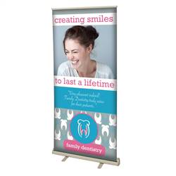 36in x 80in Value Retractable Polypropylene Media Banner (Graphic & Hardware)