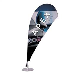 6in x 16in Micro Teardrop Sail Sign Flag Single-Sided(Graphic & Hardware)