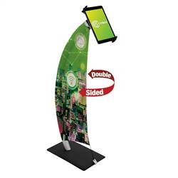 16in x 36in Sail Tablet Stand Display (Graphic & Hardware)