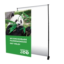 6ft x 8ft Deluxe Exhibitor Display Replacement Graphic. It is as one-of-a-kind banner display that is adjustable both vertically and horizontally.Show your customers how to create banner displays, advertising towers, room dividers even complete trade show