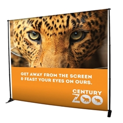10ft x 8ft Exhibitor Adjustable Banner Stand Display Kit as one-of-a-kind banner display that is adjustable both vertically and horizontally. Show your customers how to create banner displays, advertising towers, room dividers even complete trade show