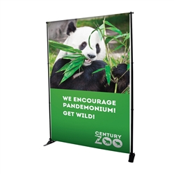 7.5ft x 8ft Deluxe Exhibitor Display Replacement Graphic.One-of-a-kind banner display that is adjustable both vertically and horizontally. Show your customers how to create banner displays, advertising towers, room dividers even complete trade show