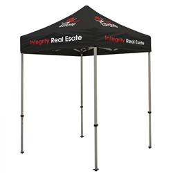 Outdoor 6ft x 6ft Deluxe Tents offer heavy duty commercial-grade popup frames designed for professional use. Canopies can customized with full color printing to display your company branding. Showcase your business name with our outdoor event tents.