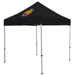 Outdoor 8ft x 8ft Deluxe Tents offer heavy duty commercial-grade popup frames designed for professional use. Canopies can customized with full color printing to display your company branding. Showcase your business name with our outdoor event tents.
