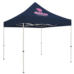 Outdoor 10ft x 10ft Standard Tents offer heavy duty commercial-grade popup frames designed for professional use. Canopies can customized with full color printing to display your company branding. Showcase your business name with our outdoor event te