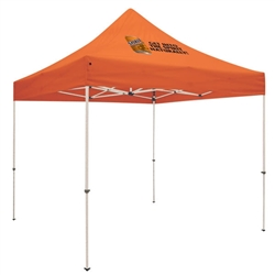 Outdoor 10ft x 10ft Premium Tents offer heavy duty commercial-grade popup frames designed for professional use. Canopies can customized with full color printing to display your company branding. Showcase your business name with our outdoor event tents.