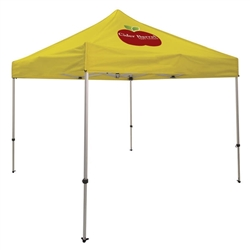 Outdoor 10ft x 10ft Ultimate Tents offer heavy duty commercial-grade popup frames designed for professional use. Canopies can customized with full color printing to display your company branding. Showcase your business name with our outdoor event tents.