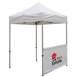 Outdoor 6ft Tents offer heavy duty commercial-grade popup frames designed for professional use. Canopies can customized with full color printing to display your company branding. Showcase your business name with our outdoor event tents.