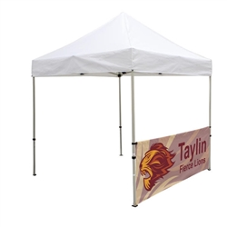 Outdoor 8ft Tents offer heavy duty commercial-grade popup frames designed for professional use. Canopies can customized with full color printing to display your company branding. Showcase your business name with our outdoor event tents.