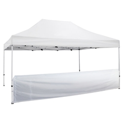 Outdoor 15ft Tents offer heavy duty commercial-grade popup frames designed for professional use. Canopies can customized with full color printing to display your company branding. Showcase your business name with our outdoor event tents.