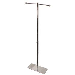 Bag Holder Chrome stand is a quick and simple way to display bags at your trade show or event and promotional giveaway bags. Our portable bag holder is lightweight, with two arms for hanging tote bags or other lightweight items