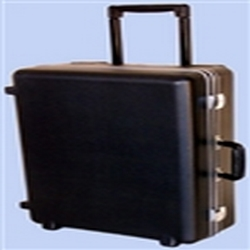20ft x 15ft x 8ft 696 Wheeler Molded Wheeled Travel Case no Foam Filled. Ergonomically molded to provide a portable and durable solution, the 696 Wheeler case is perfect for sales people. Check as baggage, Carry on plane.