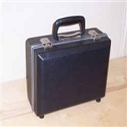 8in x 5in x 2.5in 606 Secure Molded Hard Carrying Case. Light-Weight Instrument Case, Molded polyethylene construction, Aluminum tongue-and-groove frame, Carrying handle, Plated catches, locks, & hinges, Plastic bumper feet, Custom interiors available