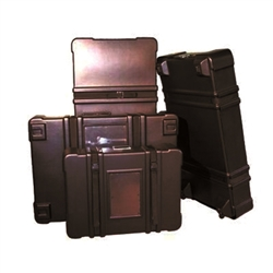 278 Expo II Molded Display Shipping Case 30in x 22in x 8in No Wheels are the perfect case for shipping all of your display materials to and from trade shows. Perfect for flat and folding displays, graphics, portable flooring and other show accessories.